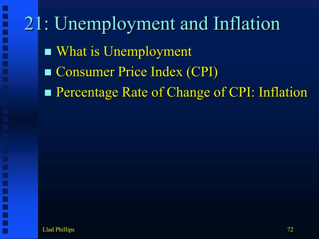21: Unemployment and Inflation