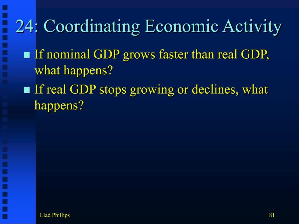 24: Coordinating Economic Activity