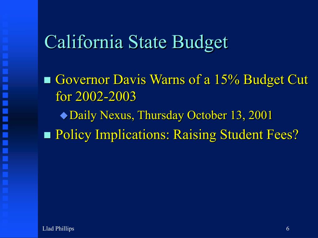 California State Budget