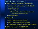 definitions of money