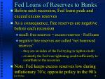 fed loans of reserves to banks
