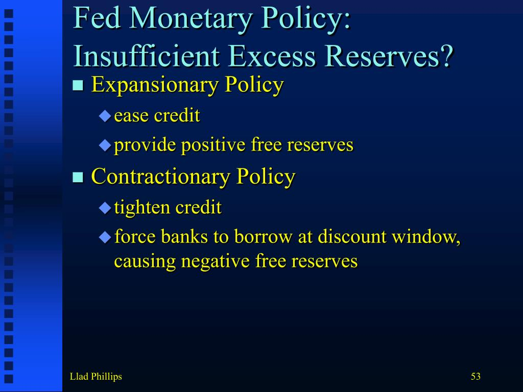 Fed Monetary Policy: Insufficient Excess Reserves?