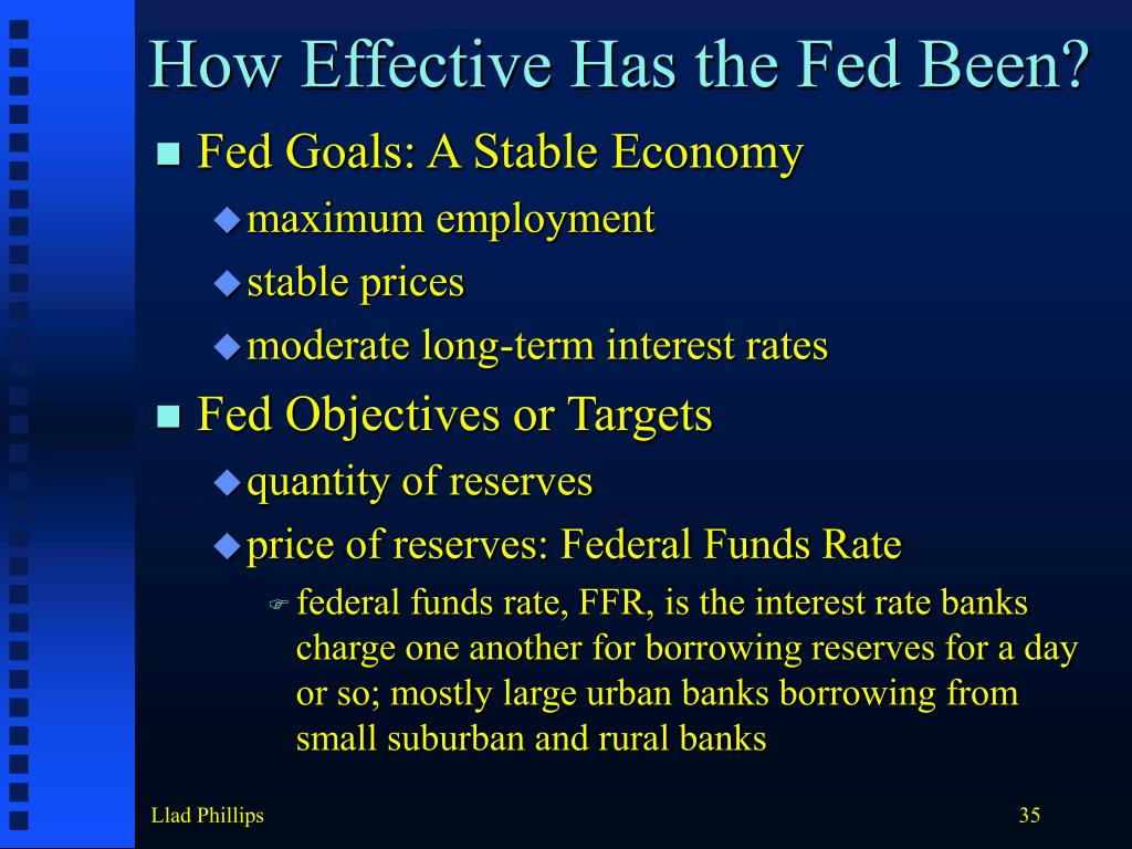 How Effective Has the Fed Been?