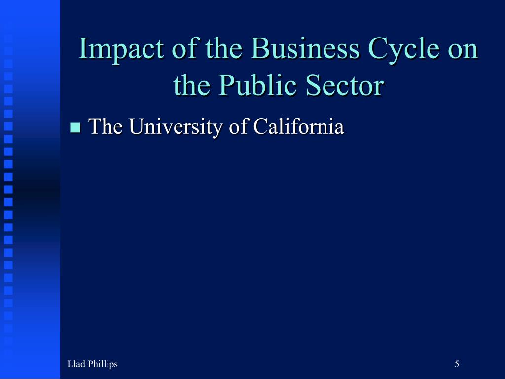 Impact of the Business Cycle on the Public Sector