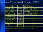 nation s commercial banks 10 22 01