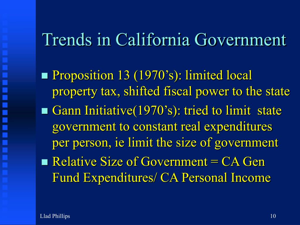Trends in California Government