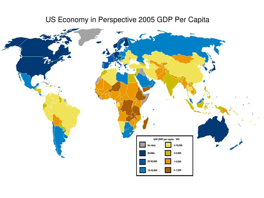 US Economy in Perspective 2005 GDP Per Capita