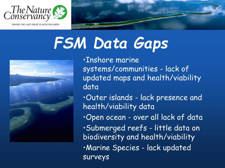 FSM Data Gaps