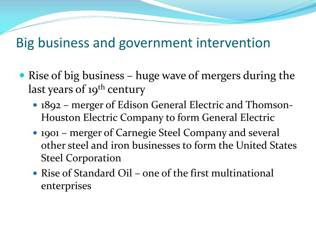 Big business and government intervention