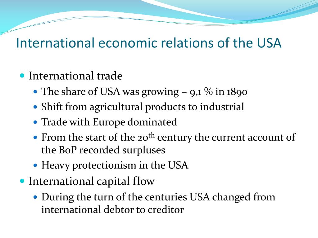 International economic relations of the USA