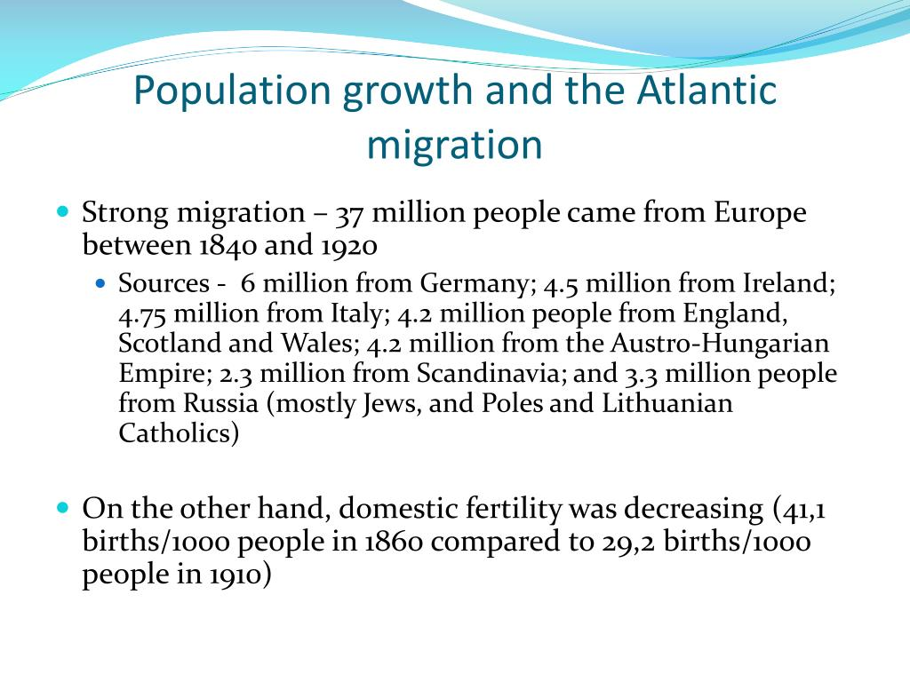 Population growth and the Atlantic migration