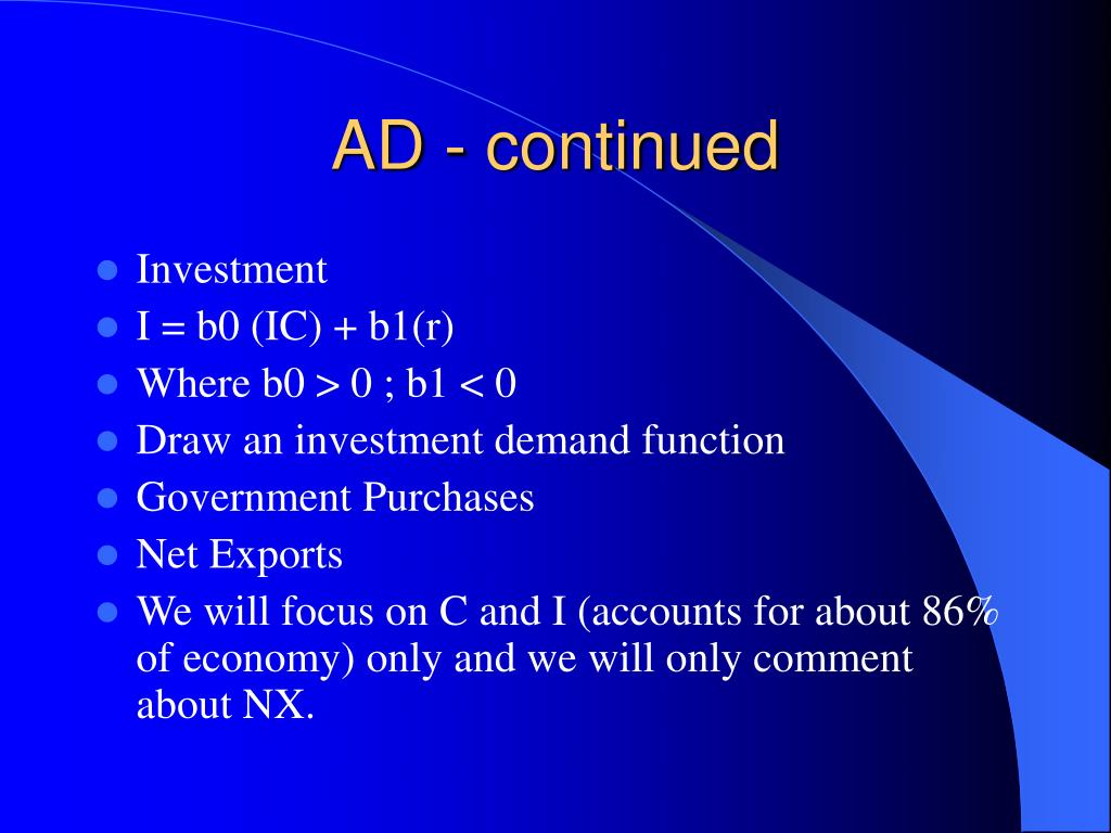 AD - continued