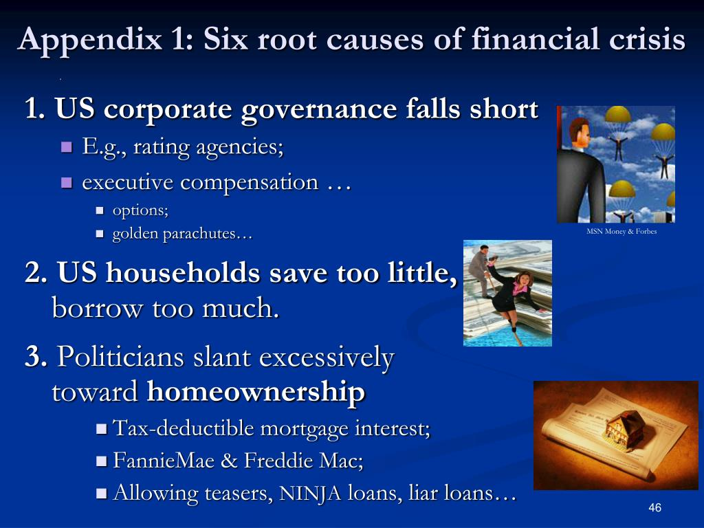 Appendix 1: Six root causes of financial crisis