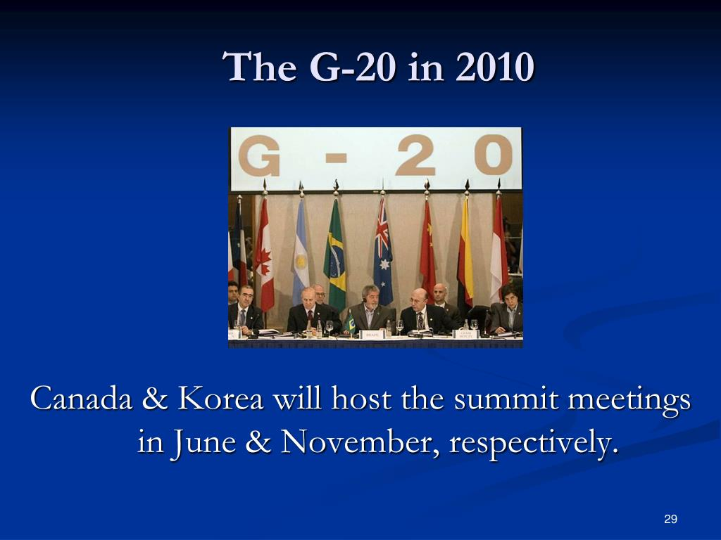 The G-20 in 2010