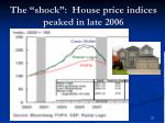the shock house price indices peaked in late 2006