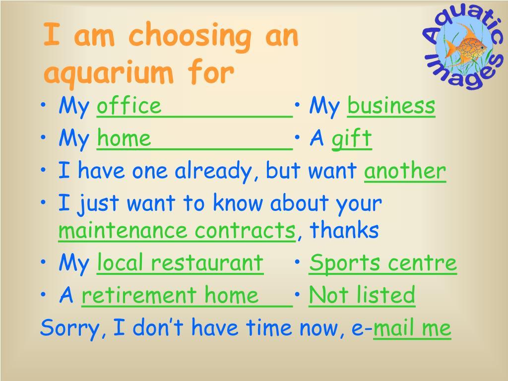 I am choosing an