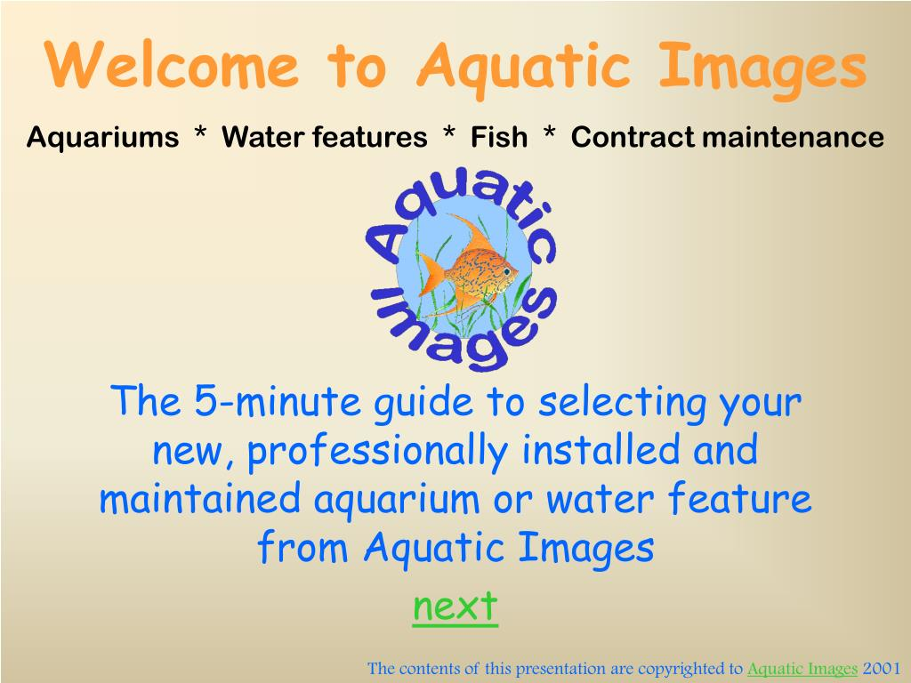 Welcome to Aquatic Images