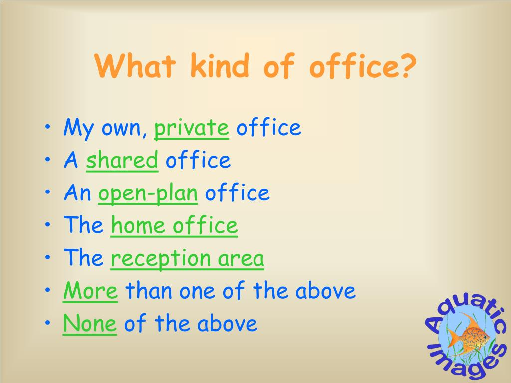 What kind of office?