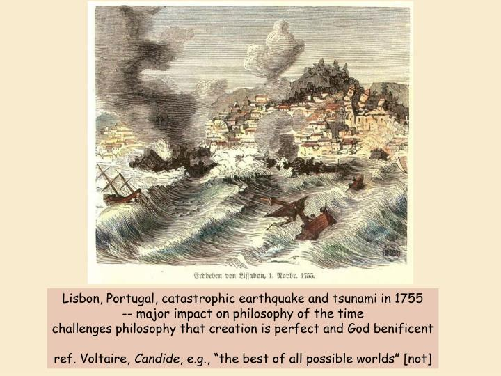 Lisbon, Portugal, catastrophic earthquake and tsunami in 1755