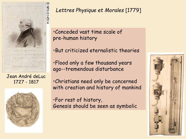 Lettres Physique et Morales
