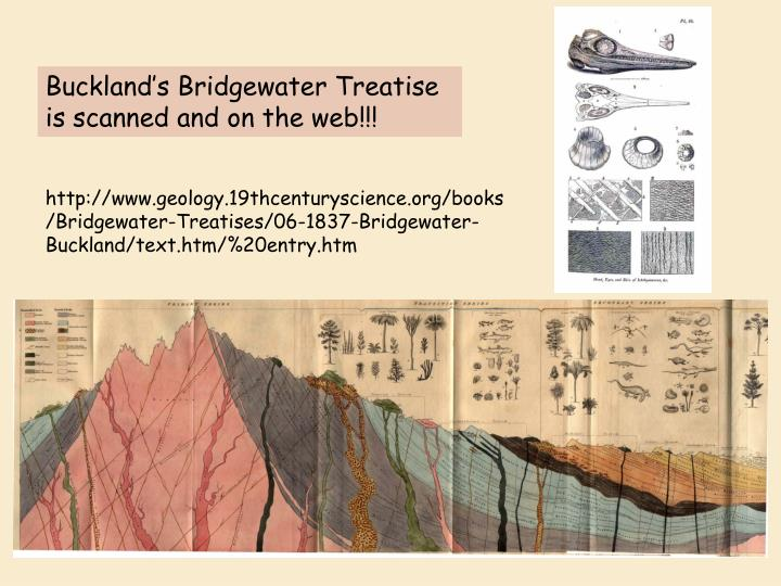 Buckland's Bridgewater Treatise is scanned and on the web!!!