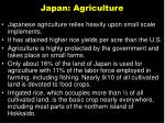 japan agriculture