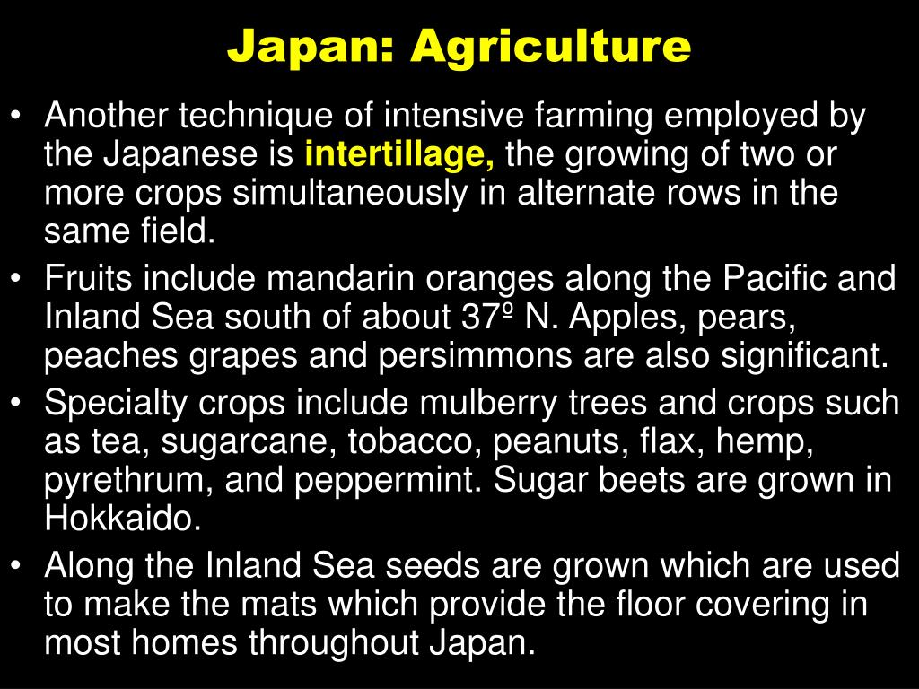 Japan: Agriculture