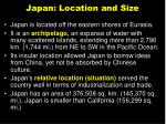 japan location and size