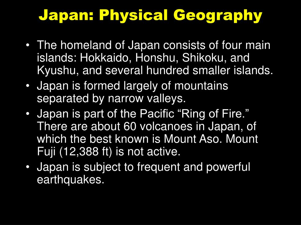 Japan: Physical Geography