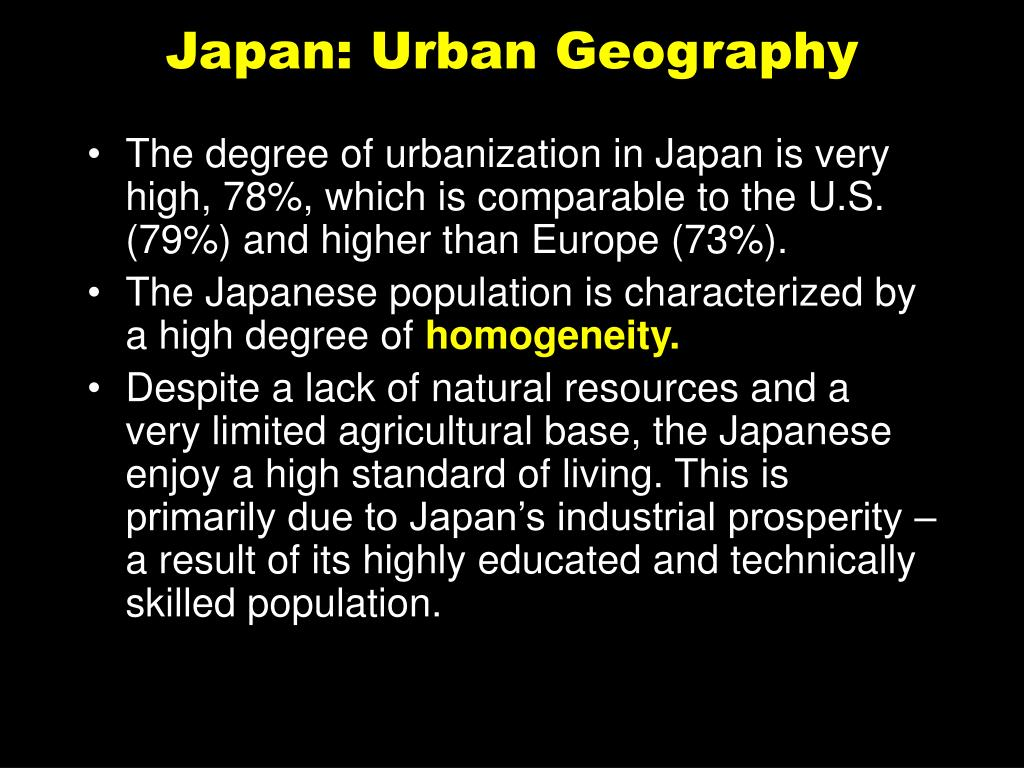 Japan: Urban Geography