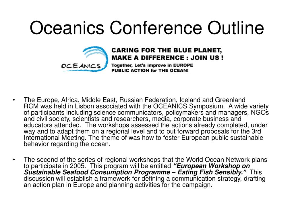 Oceanics Conference Outline