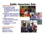 public aquariums role