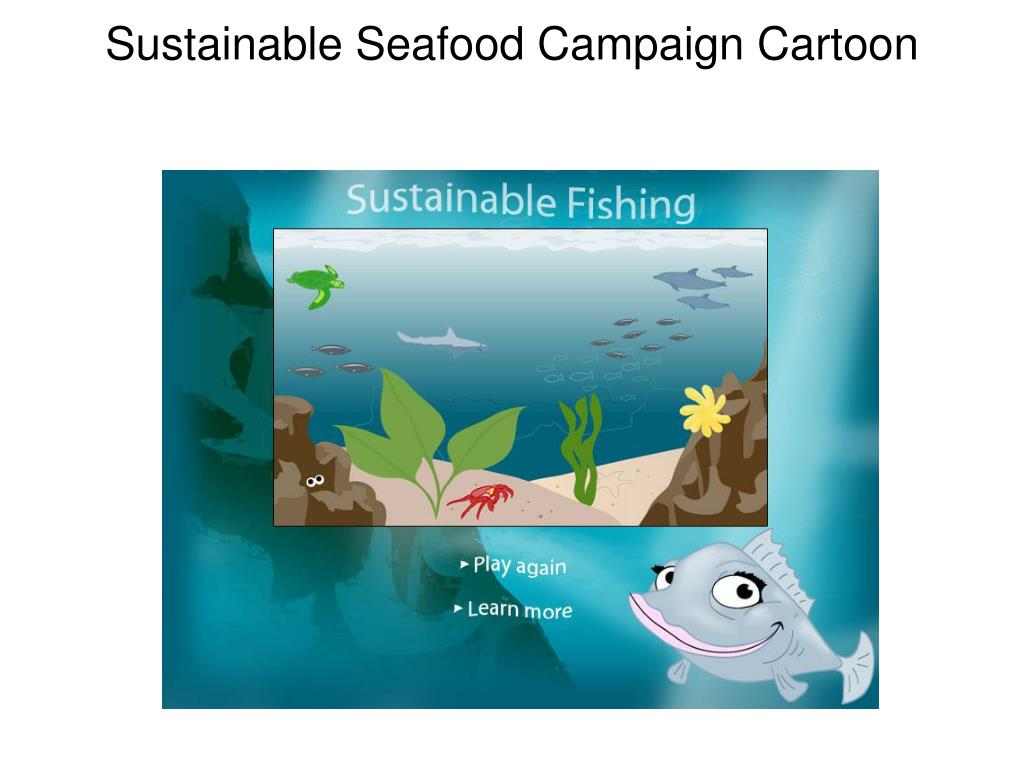 Sustainable Seafood Campaign Cartoon
