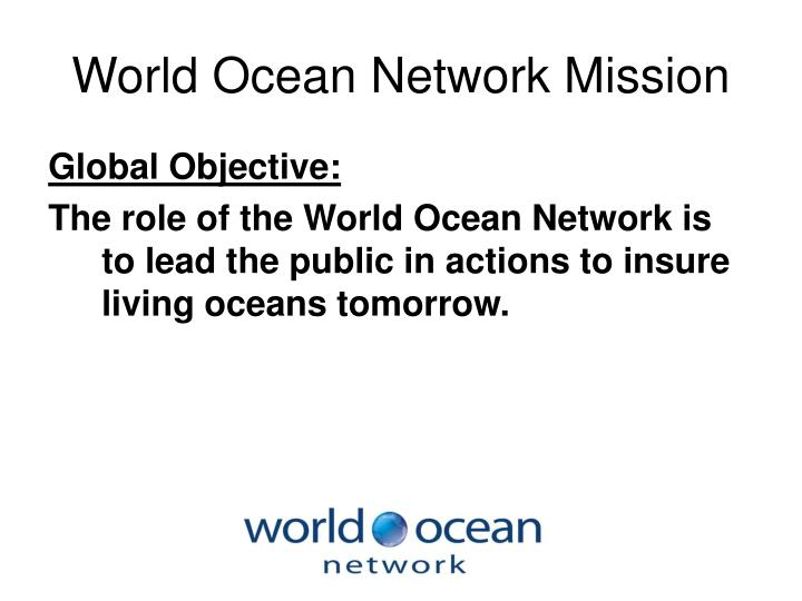 World ocean network mission
