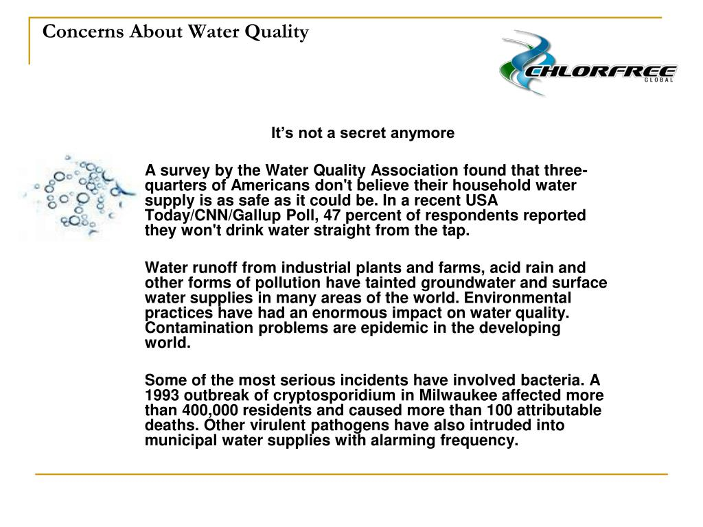 Concerns About Water Quality