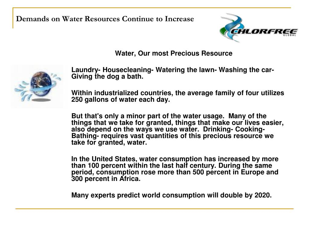 Demands on Water Resources Continue to Increase