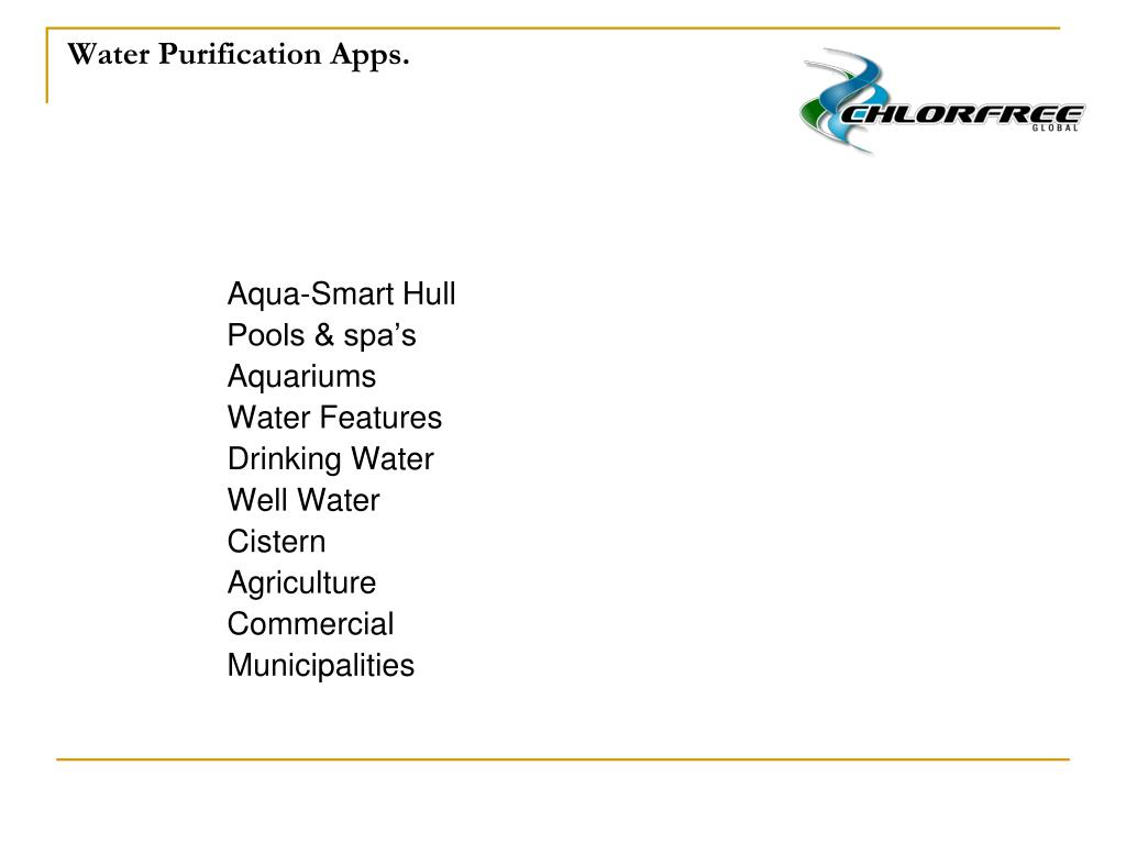 Water Purification Apps.