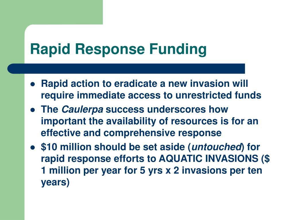 Rapid Response Funding