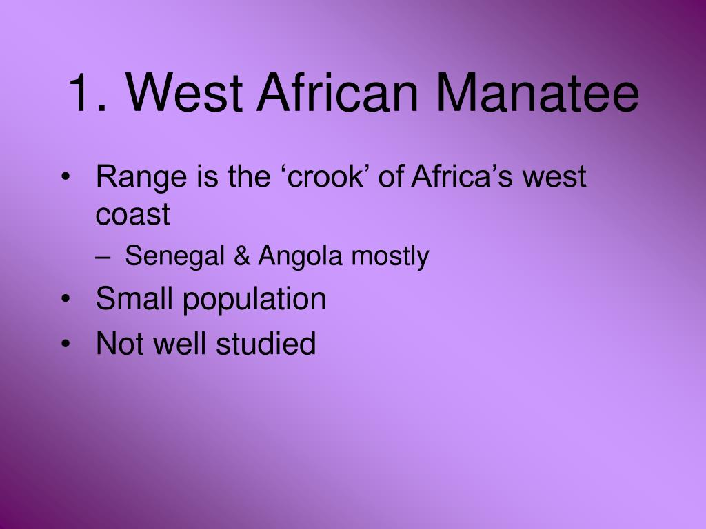 1. West African Manatee