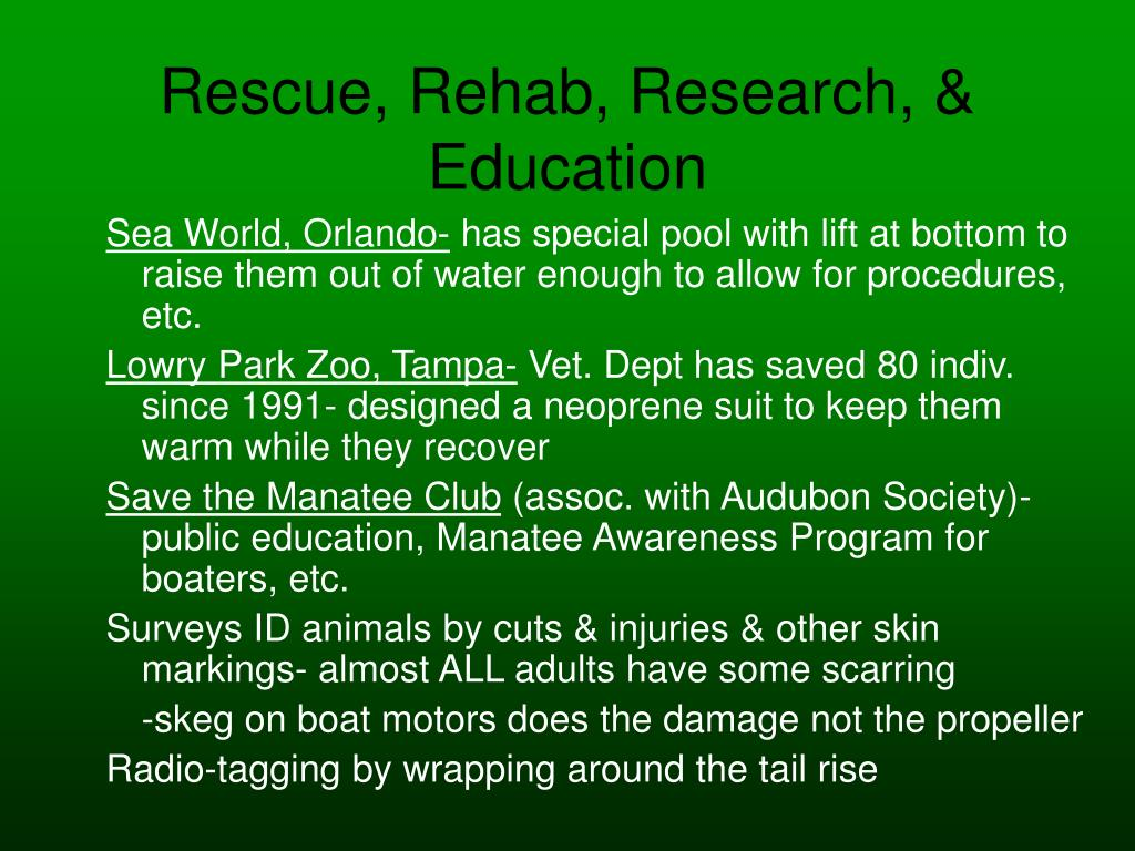Rescue, Rehab, Research, & Education