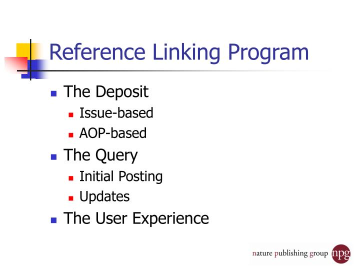 Reference Linking Program