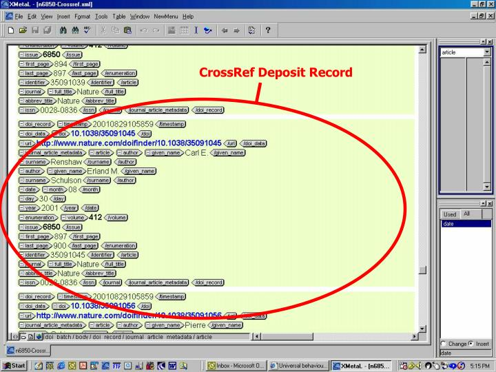 CrossRef Deposit Record