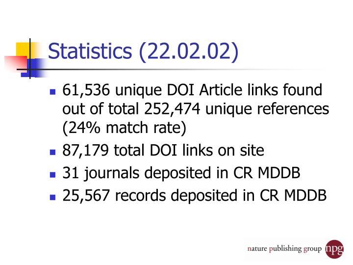 Statistics (22.02.02)