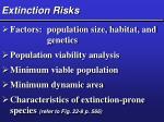 extinction risks