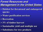forest resources and management in the united states