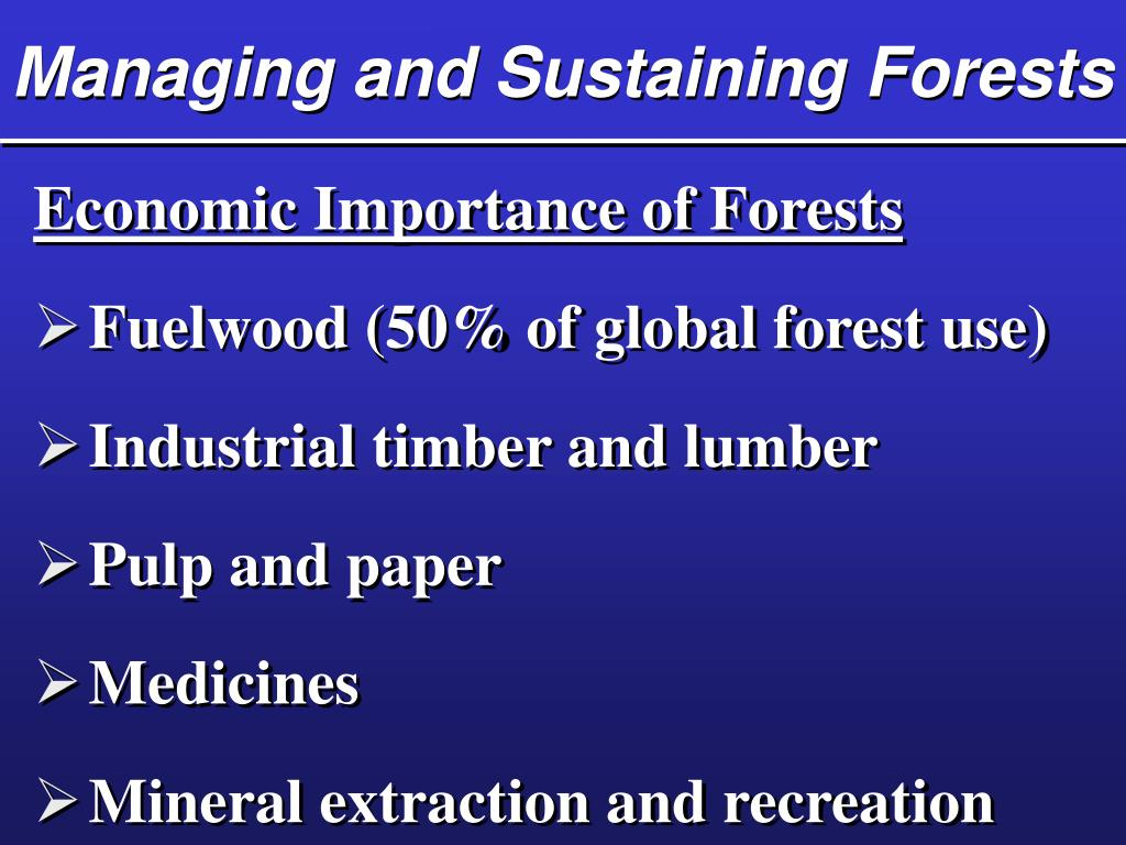 Managing and Sustaining Forests