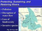 protecting sustaining and restoring rivers