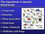 the importance of aquatic biodiversity