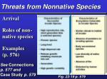 threats from nonnative species
