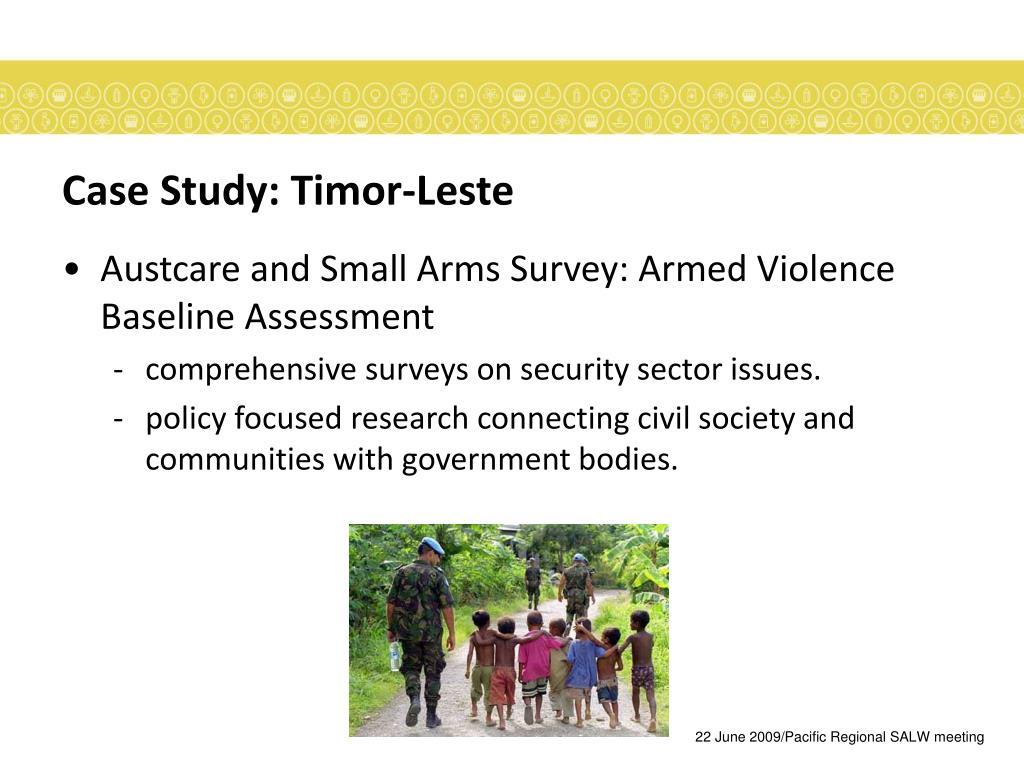 Case Study: Timor-Leste
